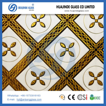 arch 4mm,5mm,6mm ice flower decorative glass/clear float glass/acid etched glass, Decorative Tiles Ice flower backlit glass low price hot selling artistic glass pattern from Shahe factory